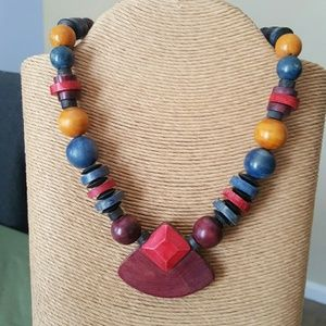 Fun Wooden Necklace